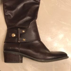 Vince Camuto Shoes - Vince Camuto tall riding boots - brown leather